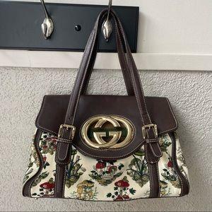Interlocking GG Flap Floral Bag